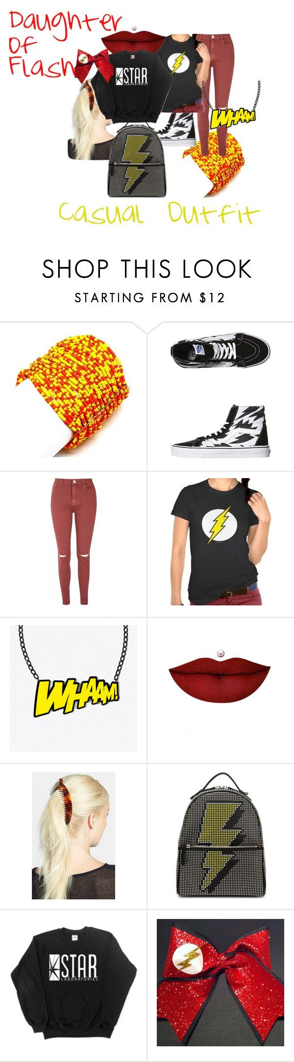 """""""Daughter of Flash Casual Outfit"""" by firegirlx48 ❤ liked on Polyvore featuring moda, Pink Mascara, Vans, Glamorous, Anastasia Beverly Hills, France Luxe y Les Petits Joueurs"""