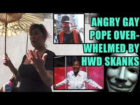 (1475) RAW: Angry Gay Pope overwhelmed by Scientology stooges - Guy Fawkes Day 2017 Hwd Blvd... - YouTube