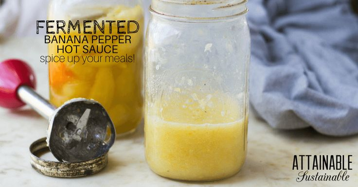 Ferment hot banana peppers and then follow this hot sauce recipe to make a DIY condiment to spice up all of your meals.