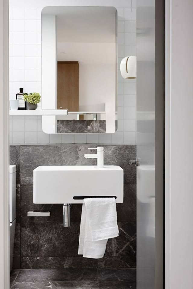 Urban living in South Yarra, Melbourne. Clever details makes the most of this stylish apartment. #crispstreetapartment #mimdesign #kitchendesign #bathroomdesign
