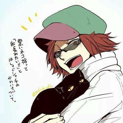 Shachi found a cat xD One Piece