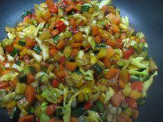 Contorno di verdure miste saltate con il wok