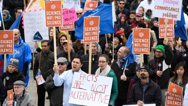 Canadians march for science from coast to coast http://www.ctvnews.ca/sci-tech/canadians-march-for-science-from-coast-to-coast-1.3380292?utm_campaign=crowdfire&utm_content=crowdfire&utm_medium=social&utm_source=pinterest