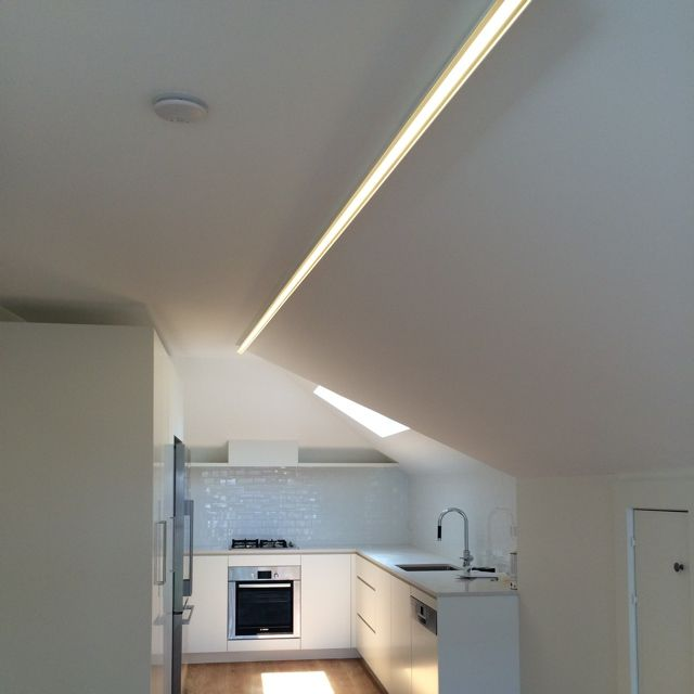 S40 linear LED profile Suspended or surface mount Low glare custom lengths #ledprofile #customlight #striplighting #surfacelighting #featurelight