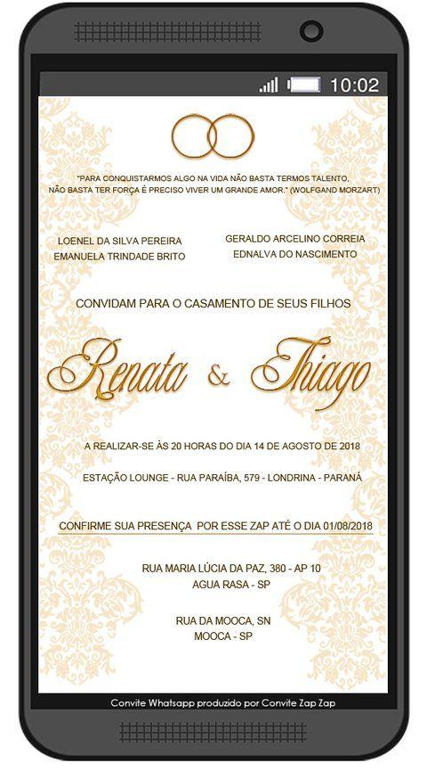 Convite de Casamento  Whatsapp Realeza - comprar online