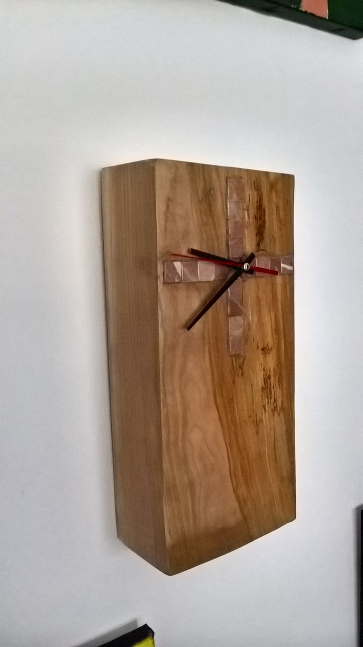 clock spalted cherry