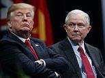 FILE - In this Dec. 15, 2017, file photo, President Donald Trump sits with Attorney General Jeff Sessions during the FBI National Academy graduation ceremony in Quantico, Va. Trump's White House counsel personally lobbied Attorney General Jeff Sessions to not recuse himself from the Justice Department's investigation into potential ties between Russia and the Trump campaign. (AP Photo/Evan Vucci, File)