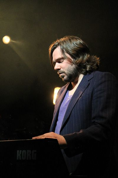 marvelousmatt:  Matt Berry @ The Kazimier Liverpool  5-14-13  It's almost like he's in some fervent musical worship! Is it wrong I want to worship his hair!?
