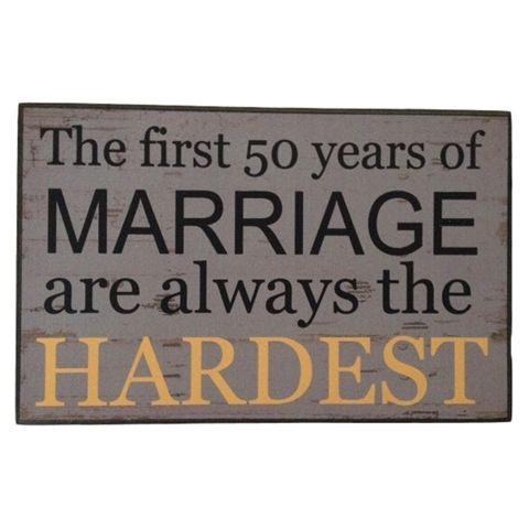 Marriage Humorous Hanging Plaque wall Sign
