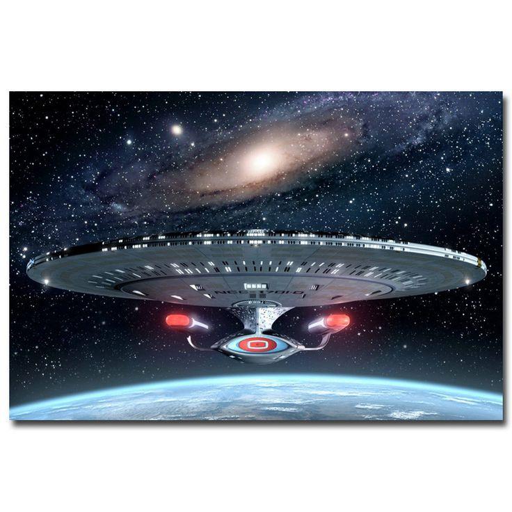 Star Trek Classic - USS Enterprise Silk Poster