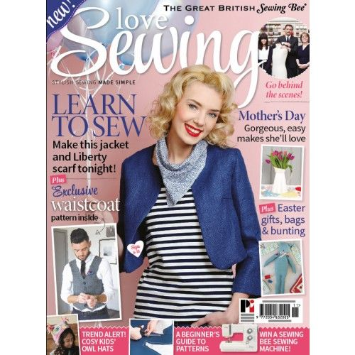 Love Sewing issue 11: Simple Jackie O jacket pattern.