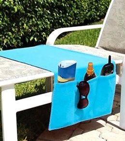 Gonna make this handy pool/beach chair caddy from an old towel