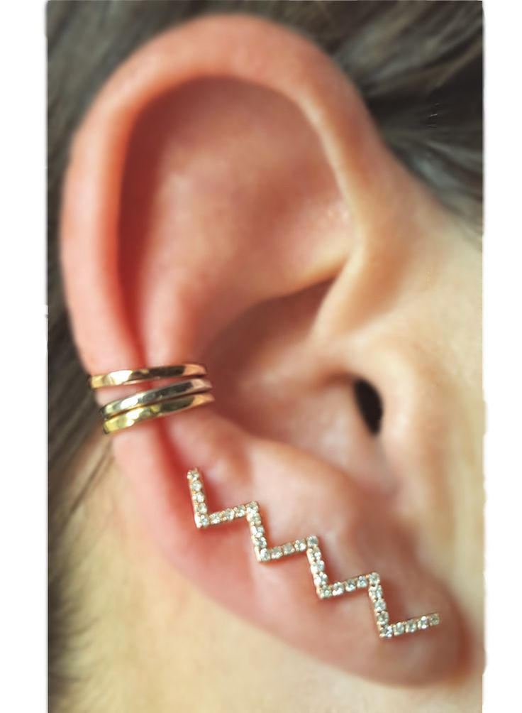 Single Gold Ear Cuff - stack 'em