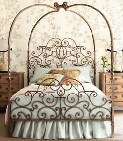 Lovely wrought iron bed