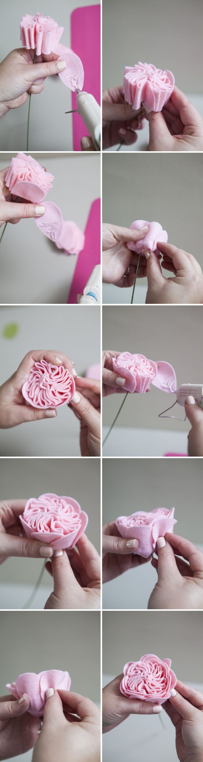 How to make a felt cabbage rose!!!