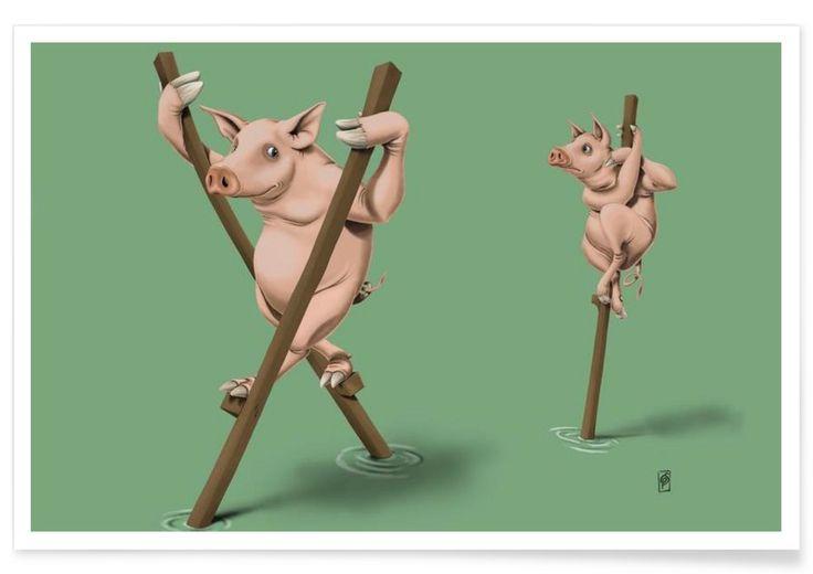 Stick in the mud (colored) - Rob Snow | Creative - Premium Poster art | decor | wall art | inspiration | animal | home decor | ideas | gift