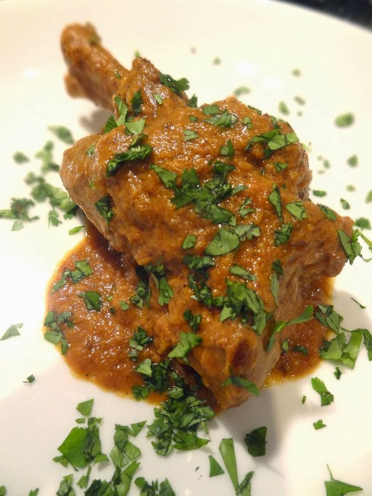 Scrumpdillyicious: Hyderabadi Lamb Shanks: Chef Alfred Prasad Notes- saute in mustard oil and ghee used 1lb lamb stew meat instead of lamb shanks 4 green cardamom and 1 black cardamom baked after adding water- 1.5 hours on 350 took out whole spices and discarded took out lamb pureed sauce with a little more water with immersion blender Add generous amount of salt + lemon juice to taste Add lamb back in