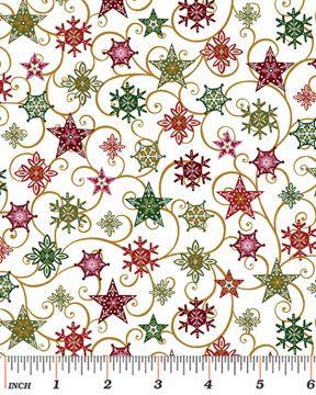 "Holiday Magic collection, ""Twirling Stars"", Benartex, LLC 2014"