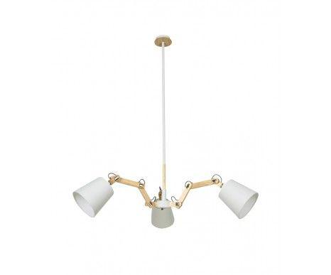 Meyer 3 Light Pendant in Ash/White | Modern Pendants | Pendant Lights | Lighting
