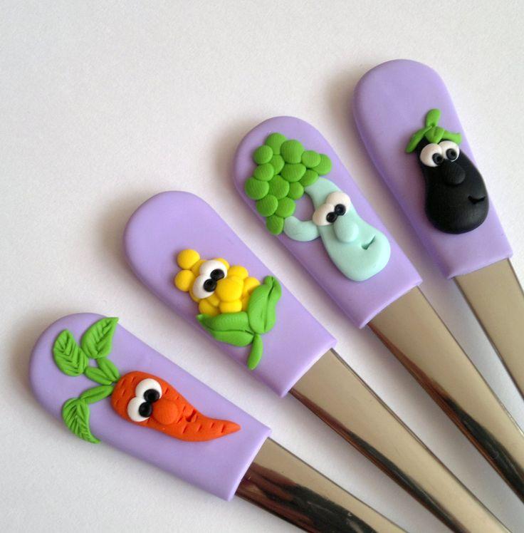 Zeleninkové dětské polévkové lžíce..:)