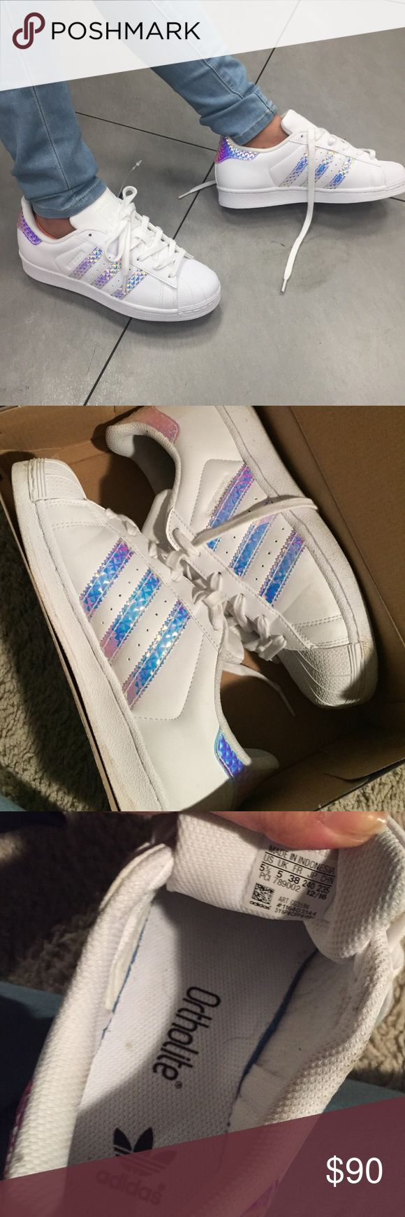 Holographic Adidas I wore these once for a sadies date Adidas Shoes