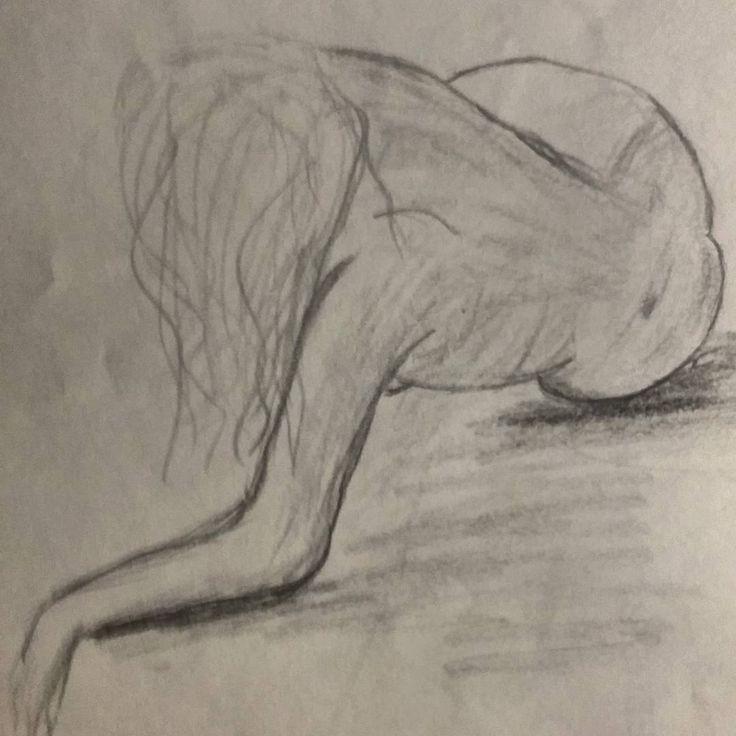 #art #sketch #skething #15min #nude #drawing #draw #обнаженка #наброски Модель Люба