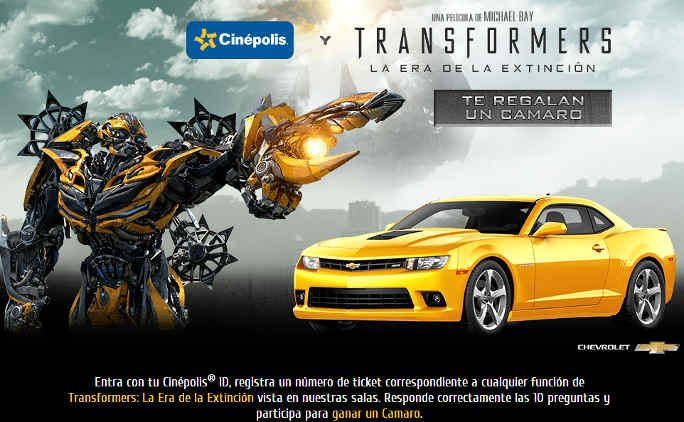 Promo cinépolis y película transformers
