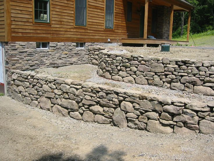 Best rock retaining walls images on pinterest