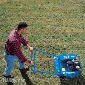 Revitalize your lawn a weekend using just one or two tools. An aerator helps the soil breathe and a power rake gets it ready for seeding.
