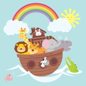 Noahs Ark Framed Picture For Baby Room