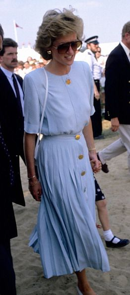 Princess Diana at Windsor Polo on July 1985 in London, England.