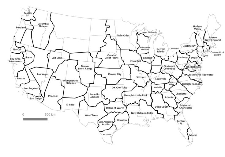 Who needs the States? These are the real communities within we reside based on the commuter patterns