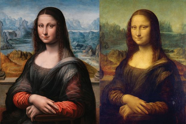 The famous Mona Lisa painting exhibited in the Louvre museum in Paris (right), and her sister painting the Museo del Prado in Madrid (left). Did Da Vinci create a 3-D version of Mona Lisa?