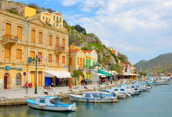 Symi Greece Travel Photography Digital by FineArtNicolasNanev