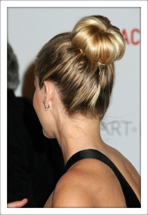 sock bun tutorial - just need to find a sock that matches the color of my hair.
