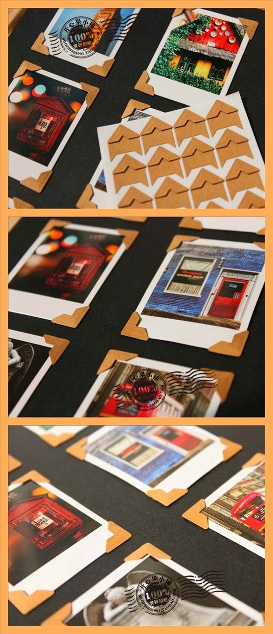 DIY Scrapbooking Kraft Corner Stickers