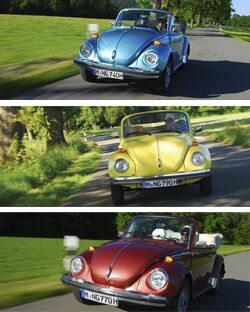 Collage VW Käfer Cabrio 1303 | Nostalgic Oldtimerreisen
