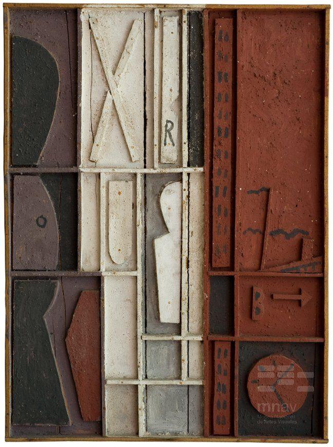 """""""Construcción"""", óleo sobre tabla, 69,50 x 51,50 cm., 1963. Museo Nacional de Artes Visuales, Montevideo. Augusto Torres El Hurgador [Arte en la Red]: Uruguayos (XIII)"""