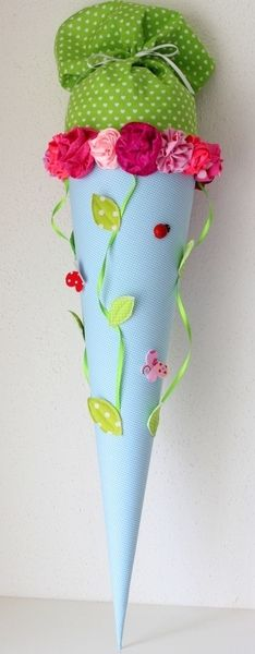 """Schultüten - Schultüte """" Rosengarten"""", Handarbeit - ein Designerstück von Anastasiyas-Stoffmaerchen bei DaWanda"""