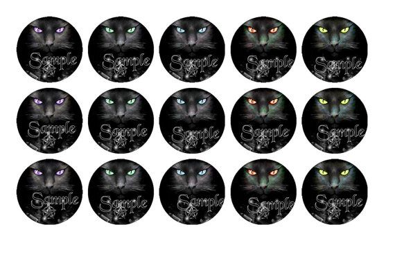 Digital Download  Wiccan Cat Witch Pentagram by DesignsByDownload, $1.50