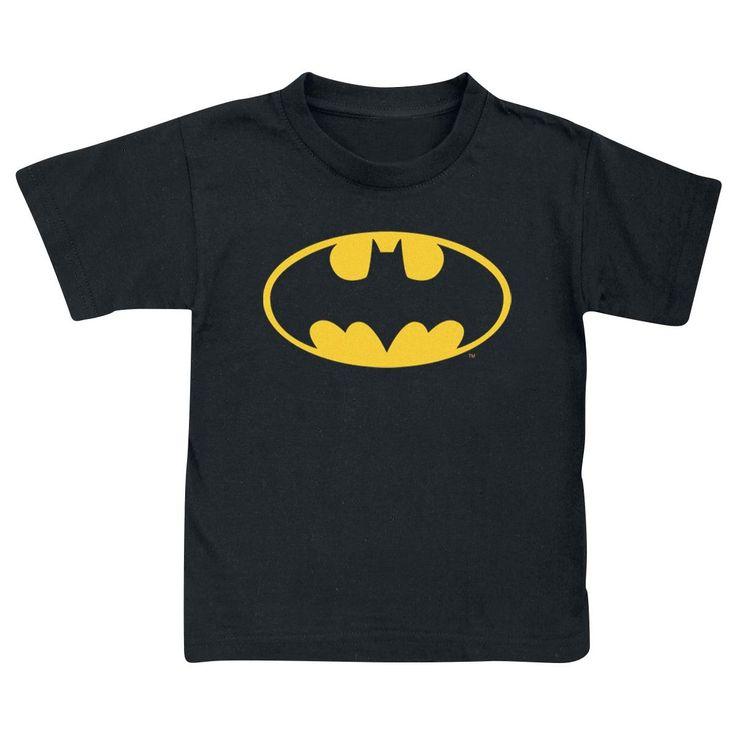 Sort børnetrøje med Batman-logo.