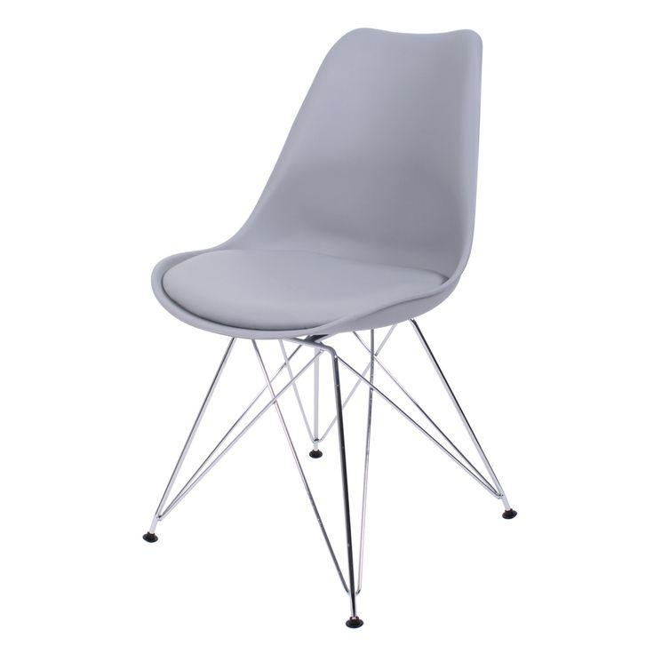 De eetkamerstoel Consilium is een combinatie tussen een verchroomd metalen onderstel en een kunststof zitting waar een zeer comfortabel kussentje in ligt. Dit strakke ontwerp is een ideale stoel voor in de eetkamer, maar kan ook goed gebruikt worden in kantoorruimtes, in de horeca en dergelijke. De eetkamerstoel Consilium is ontworpen door BUTIK met het idee om design meubilair betaalbaar te maken. De stoelen zijn verkrijgbaar in de kleuren wit, zwart, groen, rood, geel en blauw.