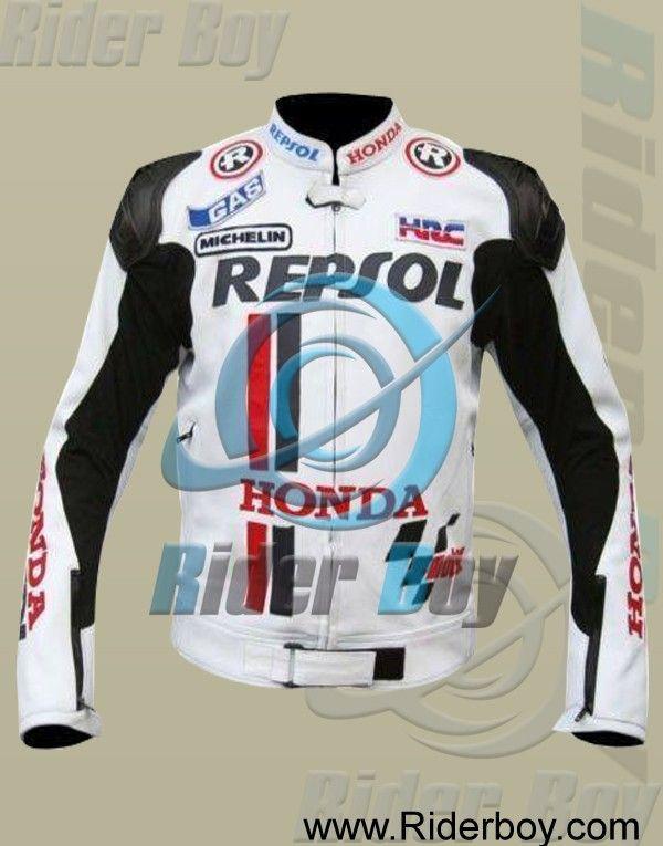 Honda Repsol White MotoGP Motorcycle Leather Jacket #r1 #yzfr1 #san #sansin #superinle #sportbike #bike #moto #motos #motorcycle #motosiklet #motoworld #_motoworld #motorbike #hondacb #cb360 #tracker #scrambler #costom #motoguzzi #motoguzziv7 #scrambler #bmw #r100 #atlanta #atl #caferacer #scrambler #fromthetank #brothermoto #hd #2017  #hondaracing #cx500 #atc250r #streettracker #scrambler #dualsport #custombike #builtnotbought #custommotorcycle #kz400 #tracker #bratbike #brattracker…