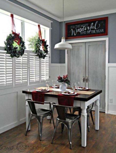 Red Themed Dining Table Christmas Home Decor Ideas Pinterest - christmas home decor