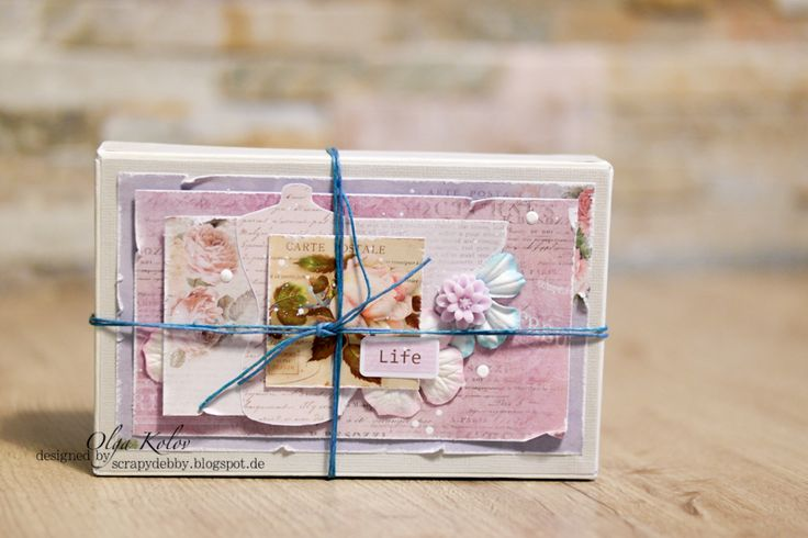ScrapBerry's: box  with Juliet Collection, resin chrysanthemums  -  by Olga Kolov