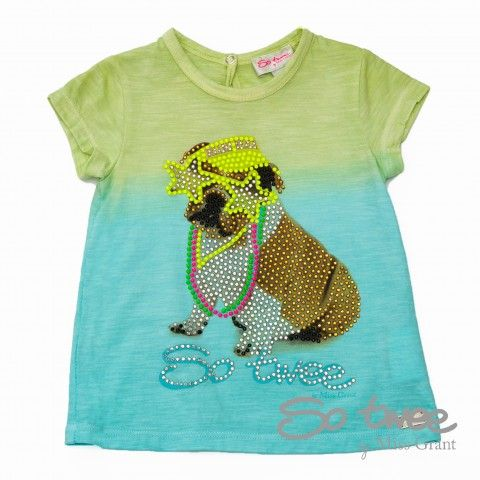 T-SHIRT WITH DOG PRINT. Sale 50% off Spring&Summer Collection!
