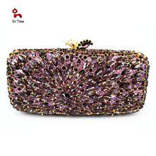 Dama cristal bolso de noche de lujo embrague del bolso del partido nuevo estilo joya caso Mini bolso Bolsos de mano bolso de noche de lujo S08281(China (Mainland))