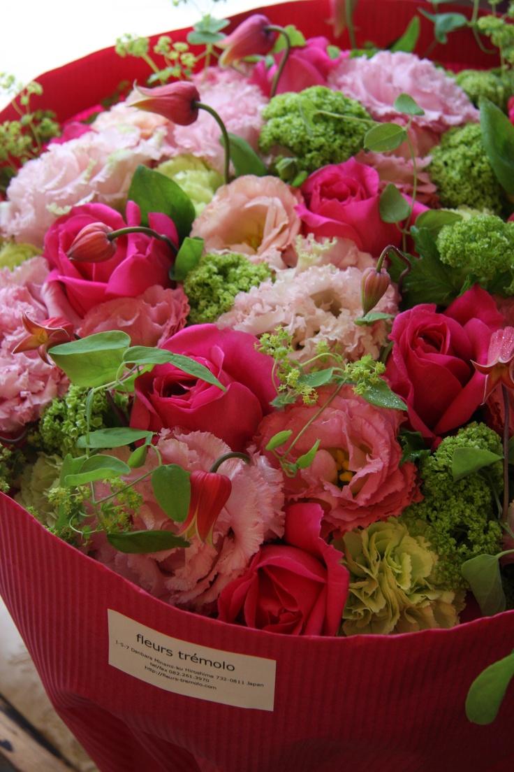 rose,eustoma,clematis