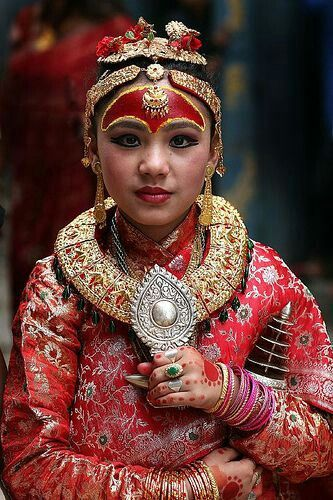 Nepali Kumari, we pray her as living goddess.