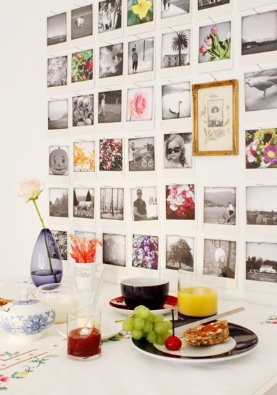 polaroid wall by philuko, with pics from this year